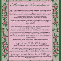 Carte Mantra de Vairotchana – Imprimée