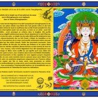 Carte de la déité sacrée Amoghapasha