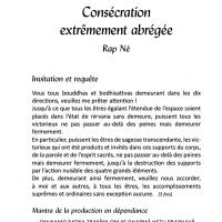 Rituel de consécration Rap Nè – PDF