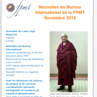 Nouvelles de Lama Zopa Rinpoché – novembre 2019