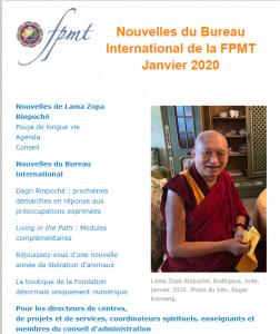 Nouvelles de Lama Zopa Rinpoché – janvier 2020