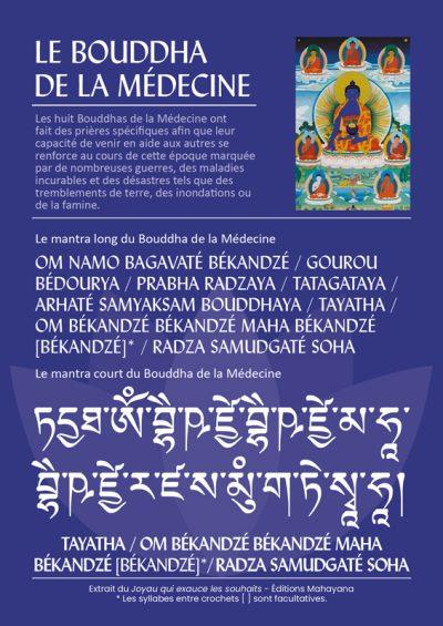 verco carte mantra bouddha de la médecine editions mahayana