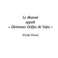 Glorieuses griffes de vajra – Format PDF