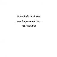 Recueil de pratiques pour les jours spéciaux du Bouddha – Format  PDF