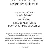 Fiches de méditations pour une retraite de lamrim – Fichier PDF