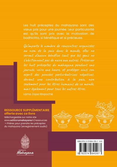 8 préceptes du mahayana editions mahayana